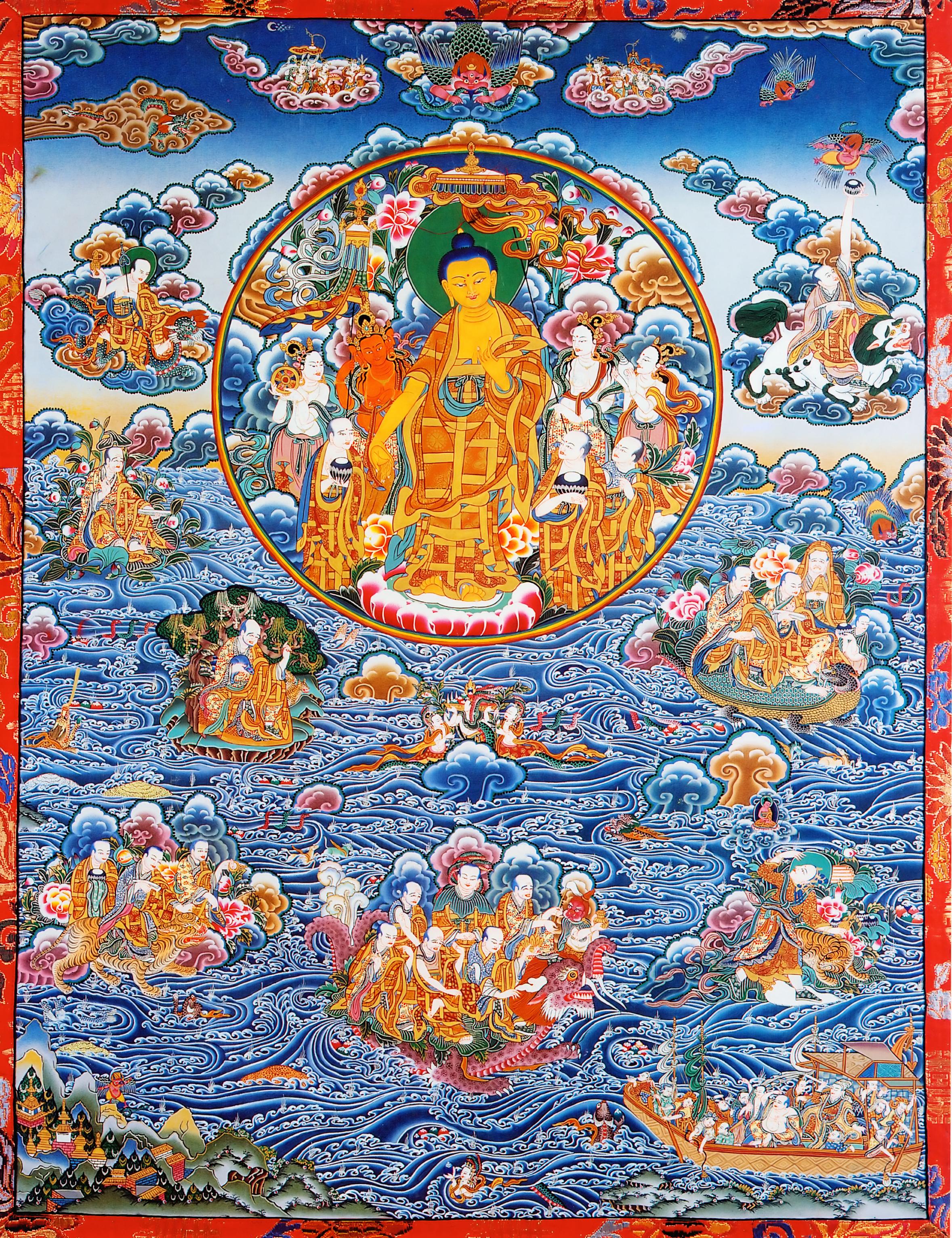 Buddha Shakyamuni Descent From Heaven