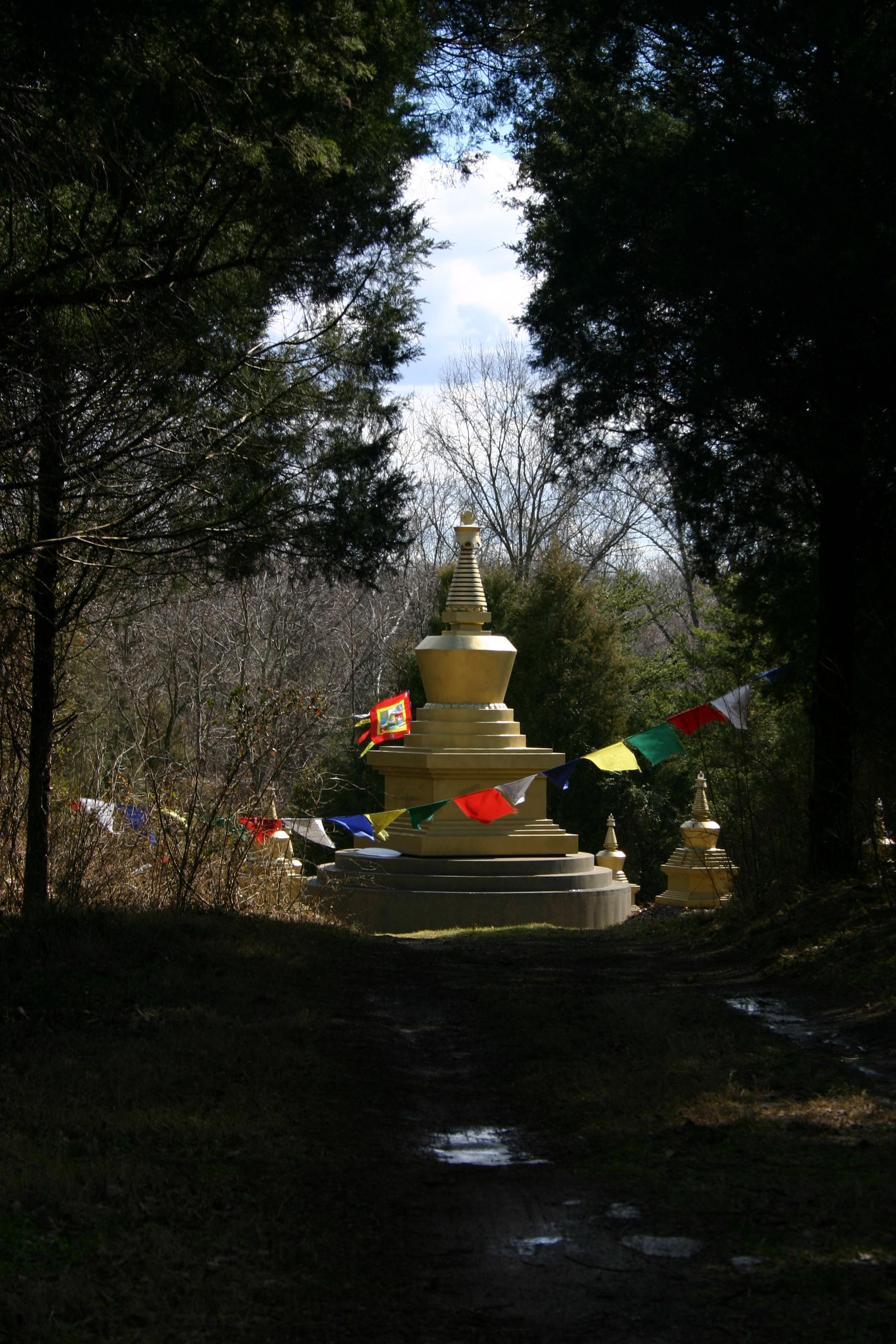 Long Life Stupa Park Flags