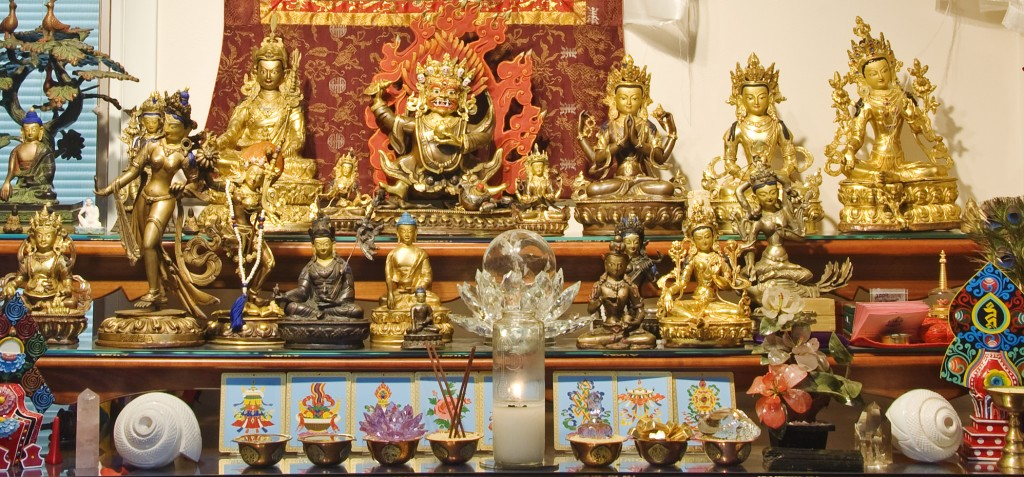 Jetsunma's Prayer Room Altar crop