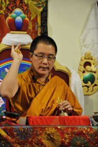 His Holiness Karma Kuchen Rinpoche photo by Mannie Garcia
