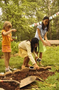 Children's Program liberating worms at KPC
