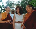 Gyaltrul Rinpoche, Jetsunma Ahkon Lhamo and His Holiness Penor Rinpoche