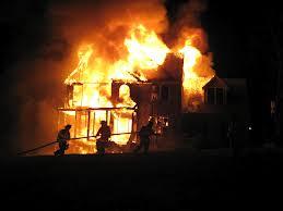 burning house